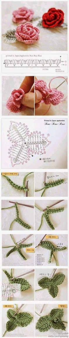 Pretty roses and leaf diagrams for decorating jewelry!!