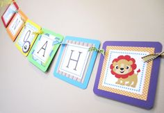 Noah's Ark Banner for Birthday or Baby Shower Decoration -