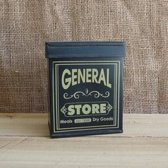 Tin box vintage decor