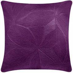 Judy Ross Textiles Hand-Embroidered Chain Stitch Fauna Decorative Pillow purple/purple