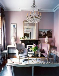 pretty pink sitting room