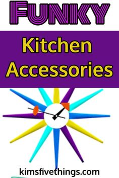Colorful Home Decor Fabulous bright colored kitchen accessories including funky purple kitchen accessories. Inspirational gifts for people learning to cook. Kitchen makeover on a shoestring ideas. Cute Home Decor, Easy Home Decor, Cheap Home Decor, Purple Kitchen Accessories, Home Decor Accessories, Funky Kitchen, Kitchen Stuff, Cheap Modular Homes, Brick Fireplace Makeover