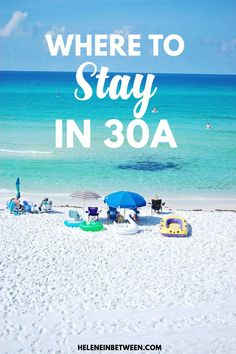 Where to stay in Florida's scenic 30A, the most gorgeous beach in the world, on Florida's panhandle.where to stay in 30a | guide to Seaside florida and all the beautiful beaches. #seaside #30a #florida #usa #travel