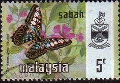 Sabah 1977 SG 441 Butterflies Parthenos Lilacinus Fine Used SG 441 Scott