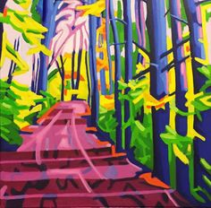 Newest work. Oil on canvas. Watercolor Canvas, Oil On Canvas, Forest Path, Abstract Expressionism, New Work, Graham, Woods, Exercises, Landscape