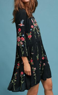 Allison Embroidered Tunic Dress | Anthropologie