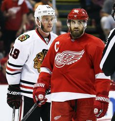 I'm only laughing at the way Tazer is looking at Zetterberg.
