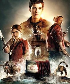 Percy Jackson and the Sea of Monsters. Good movie, wish it was more true to the book/ add more into it. Annabeth Chase, Percy And Annabeth, Percy Jackson Movie, Percy Jackson Fandom, Saga, Sea Of Monsters, Three Best Friends, Trials Of Apollo, Logan Lerman
