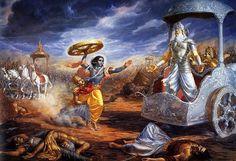 Longest epic, 74000 verses with prose passages ---written by Ved Vyase in Sanskrit. Hindu mythology, gods and goddesses and philosophy