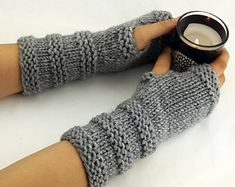 Fingerless gloves - Arm warmers - Womens Fingerless - Chunky Gloves - Wrist warmers - Hand warmers |