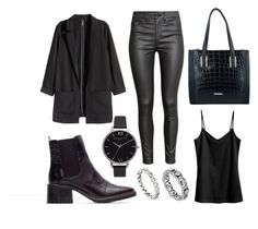 """""""Winter look 1"""" by kyalouise on Polyvore featuring Zara, H&M, Lipsy, Olivia Burton and Pandora"""
