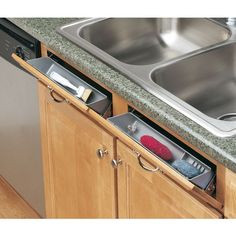 They tip-out trays ar a must-have for every kitchen and bathroom. Perfect for hiding sponges and scouring pads, out of sight yet keeping them easily accessible, slim series is designed to accomodate minimum clearance openings for large sink applications.