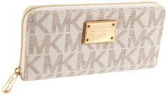 MICHAEL KORS MK Logo Jet Set Zip Clutch Womens Wallet