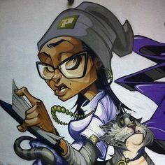 Graffiti Piece, Graffiti Girl, Graffiti Drawing, Graffiti Cartoons, Graffiti Characters, Cool Cartoons, Murals Street Art, Street Art Graffiti, Badass Drawings