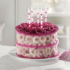 Birthday Flower Cake Beautiful Cakes Happy