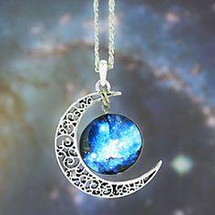 Colgante, collar europeo Galaxy Moda temporizado Piedra (1 P... – MXN $ 50.56