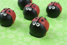 Lady Bug Cake Bites for the 4th of July