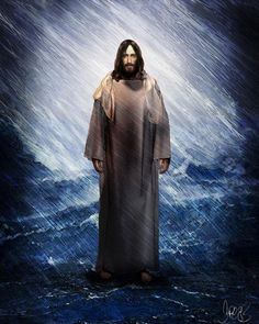 two of my favorite things...my Saviour and rain! He is walking through the storm on water