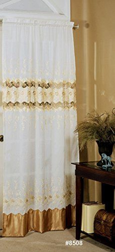 """Holiday Fall Autumn Embroidered Cutwork Window Curtain Panel 42"""" x 84"""" One Piece BELLA >>> Details can be found by clicking on the image."""