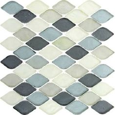 gray blue ceramic backsplash tile - Google Search