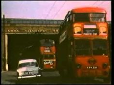 a trolley bus turning around on a turntable at tramway avenue bus garage edmonton in the good old days of london trapport also a short footage of waltham cro. Routemaster, Double Decker Bus, London Bus, London Transport, The Good Old Days, Garages, Coaches, Buses, Turntable