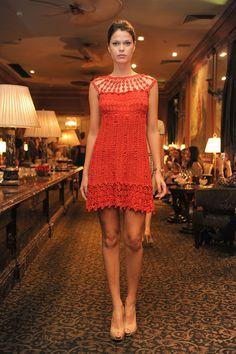 Crochê Tricô - Gráficos: Vestido em Crochê