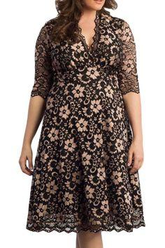 Prix: €22.17 Robes Soiree Formelle Dentelle Fleur Grandes Tailles Mi Longue Marron Modebuy.com @Modebuy #Modebuy #Marron #femme #style #femmes