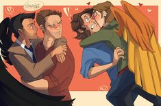 supernatural, supernaturalship, destiel - iFunny :)<<<< I saw the speed paint of this and it was awesome! Supernatural Gabriel, Supernatural Destiel, Supernatural Fanfiction, Dean And Castiel, Destiel Fanfiction, Destiel Headcanon, Destiel Fanart, Sam And Gabriel, Gabriel Spn
