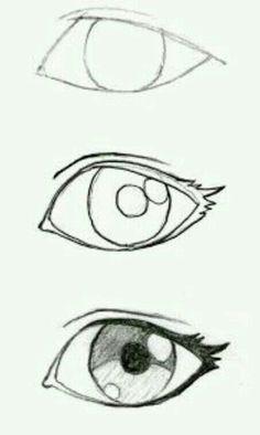 Some good eyelash info! JohnnyBro's How To Draw Manga: Drawing Manga Ey. Some good eyelash info! JohnnyBro's How To Draw Manga: Drawing Manga Eyes (Part I) - Drawing Techniques, Drawing Tips, Drawing Reference, Drawing Sketches, Sketching, Drawing Drawing, Eye Sketch, Eye Drawing Simple, Realistic Eye Drawing