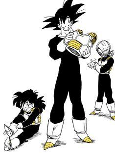 Goku, Gohan and trunks Manga Anime, Gato Anime, Manga Art, Anime Pixel Art, Cyberpunk Character, Dragon Ball Gt, Comic Artist, Animes Wallpapers, Akira