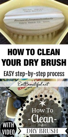 Learn how to clean your dry brush with an easy step-by-step process! No need to discard and replace after 3 months, this method allows you to keep your dry brush for years. | Eat Beautiful | #howto #clean #drybrush #detox #cleaning Natural Cleaning Recipes, Natural Cleaning Products, Detox Herbs, Digestive Bitters, Drybrush, Cleanse Your Body, Body Brushing, Body Odor, Tea Tree Essential Oil