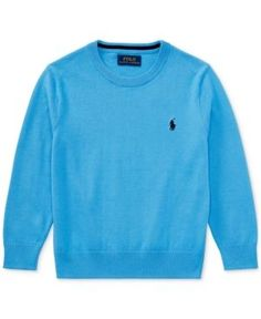 Ralph Lauren Knit Sweater, Little Boys (4-7) - Florida Blue 7
