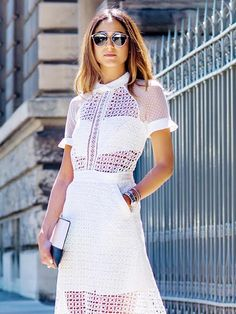 Soraya Bakhtiar looks flawlessly chic in this rad white dress.