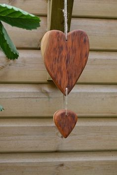 Hanging yew wood heart  £15.00
