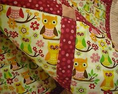 Owl Quilt for Baby Girl by BearHugBabyQuilts on Etsy, $38.00