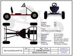 BlackWidow Go Kart Plans and Blueprints
