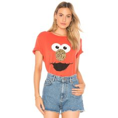 Lauren Moshi Wolf Classic Tee With Holes (125 CAD) ❤ liked on Polyvore featuring tops, t-shirts, graphic tees, wolf tee, red top, wolf t shirt, destroyed t shirt and wolf graphic tee