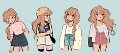 i love drawing girls -_-;; so here's some sketches i've done... some have been reposted !!