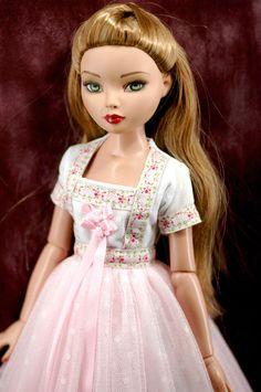"""ellowyne wilde 16"""" doll clothes vintage tiny pink floral dress ebay sen472"""