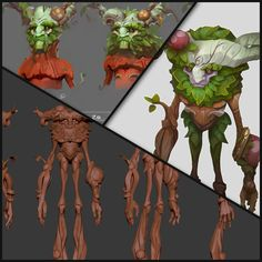 Ivern - The Green Father - High Res and Concepts, Daniel Orive on ArtStation at https://www.artstation.com/artwork/0Z65w