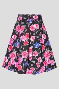 Rozšírená midi sukňa - Modrá Floral Fashion, Rock, Elegant, Skirts, Clothes, Full Skirts, Floral Patterns, Women's, Classy