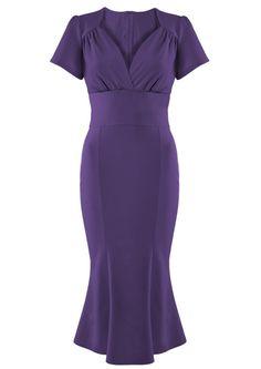 ~1940s Purple Victory Dress~