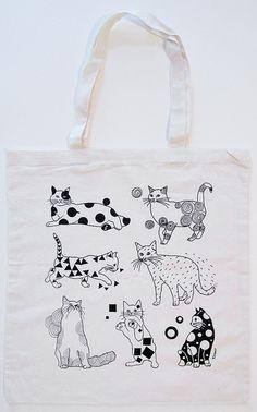 Cats Canvas Tote Bag