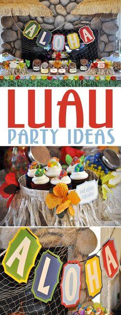 Hawaiian Luau Party on Love The Day