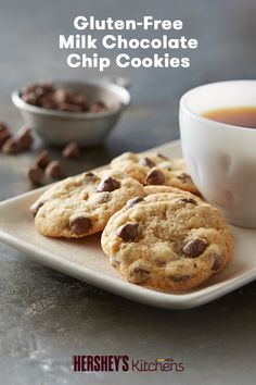 Does your family love chocolate chip cookies? Try our Gluten-Free Milk Chocolate Chip Cookies recipe. This easy and delicious recipe made with HERSHEY'S Kitchens Milk Chocolate Chips will satisfy the whole family's sweet tooth.