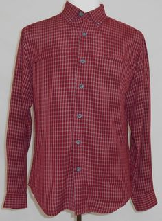 Exofficio Shirt Red Plaid Long Sleeve Outdoor Button Up Shirt Size S Men's #ExOfficio #ButtonFront