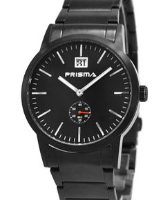 Very attractive modern black carbonized steel Prisma watch discounted from now for Popular Watches, Omega Watch, Steel, Modern, Accessories, Black, Trendy Tree, Black People, Steel Grades