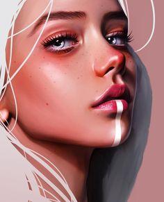 Art - digitalartgirl,digitalpainting-Laura H. Rubin is a digital artist and illustrator based in Bern, Switzerland. For more view website. Digital Art Girl, Digital Portrait, Portrait Art, Drawing Portraits, Digital Art Fantasy, Kreative Portraits, Dibujos Tumblr A Color, Luis Royo, Digital Art Tutorial
