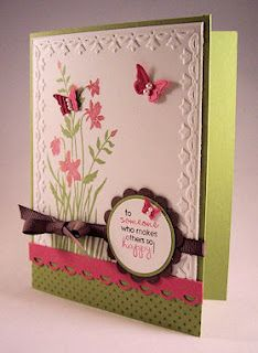 Stampin' Up! Just Believe stamp set with the use of Stampin' Up! Big Shot embossing folder and punches.