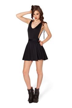 The Awesome Pocket Skater Skirt by Black Milk Clothing